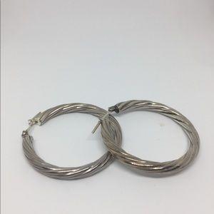 Jewelry - Sterling silver hoop earrings